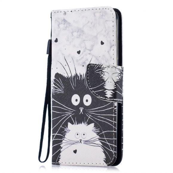 Housse Huawei P Smart 2019 chats noir et blanc