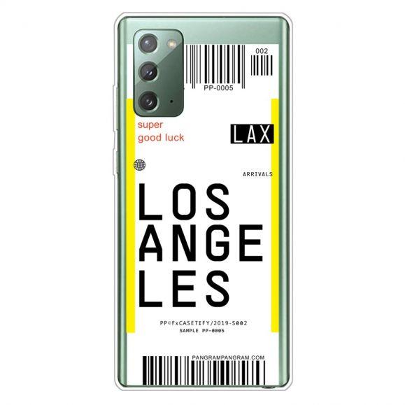 Coque Samsung Galaxy Note 20 Boarding Pass 08 LOS ANGELES