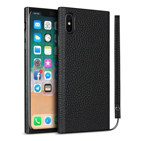 Coque iPhone X / XS Effet Cuir avec Lanière