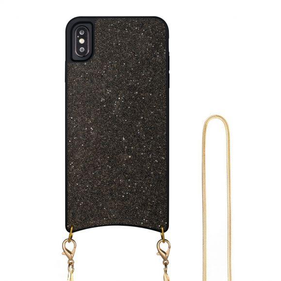 Coque iPhone X / XS Paillettes avec Cordon Collier