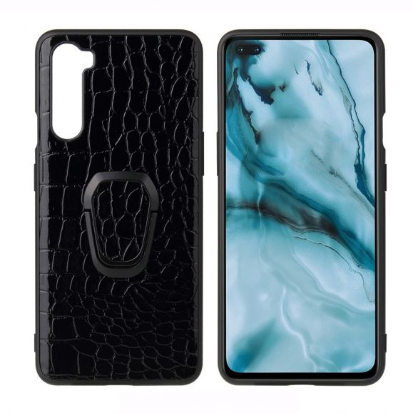 Coque OnePlus Nord effet croco avec support magnétique