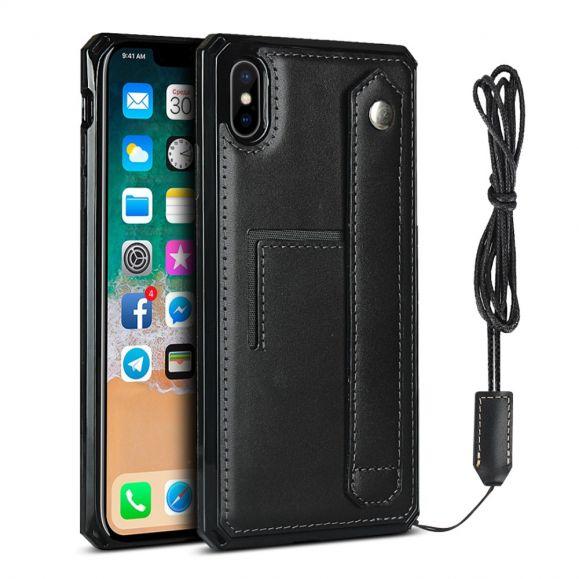 Coque iPhone XS / X Cuir Porte Carte