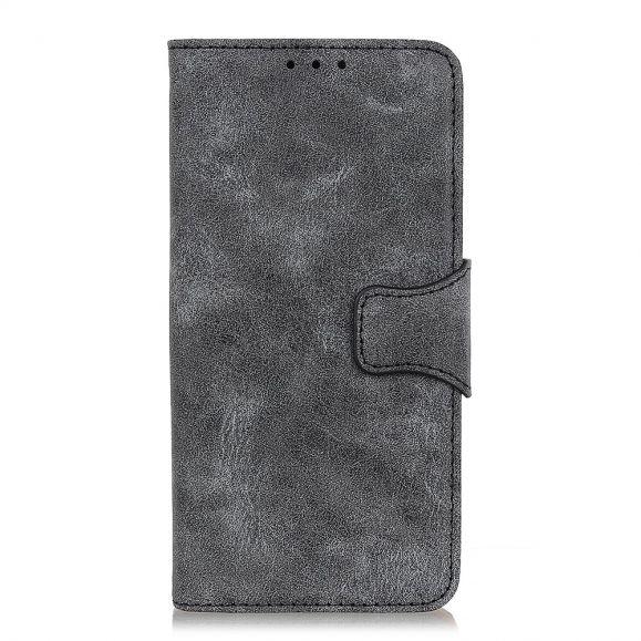 Étui Oppo Reno 4 5G Edouard simili cuir vintage - Noir