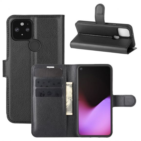 Housse portefeuille Google Pixel 4a 5G style cuir