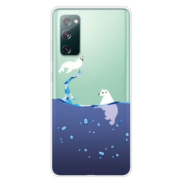Coque Samsung Galaxy S20 FE phoque et ours blanc