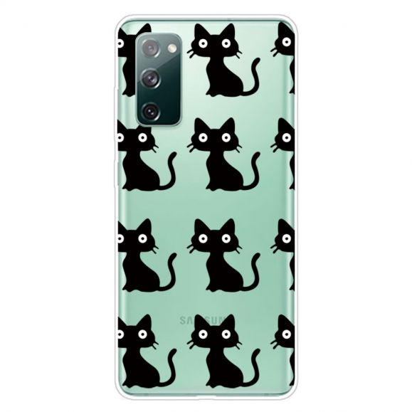 Coque Samsung Galaxy S20 FE chats noirs