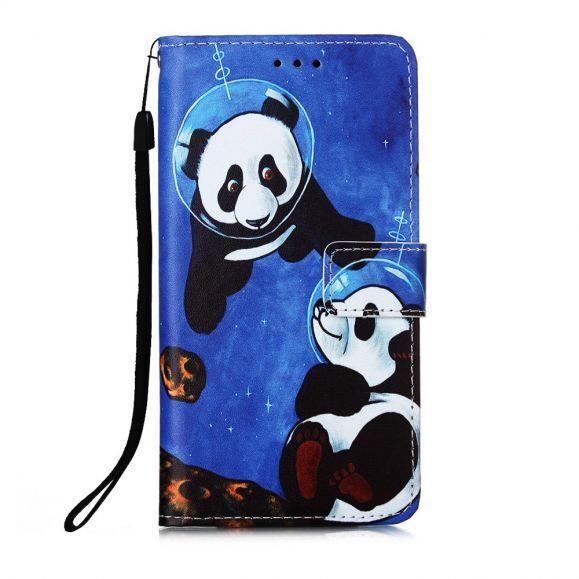 Housse Samsung Galaxy A51 5G Panda astronaute