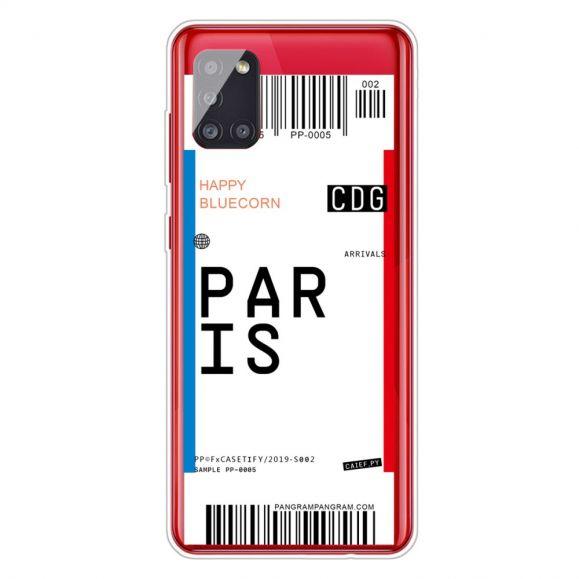Coque Samsung Galaxy A51 5G Boarding Pass 02 PARIS