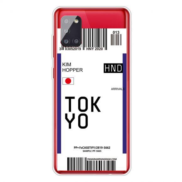 Coque Samsung Galaxy A51 5G Boarding Pass 05 TOKYO