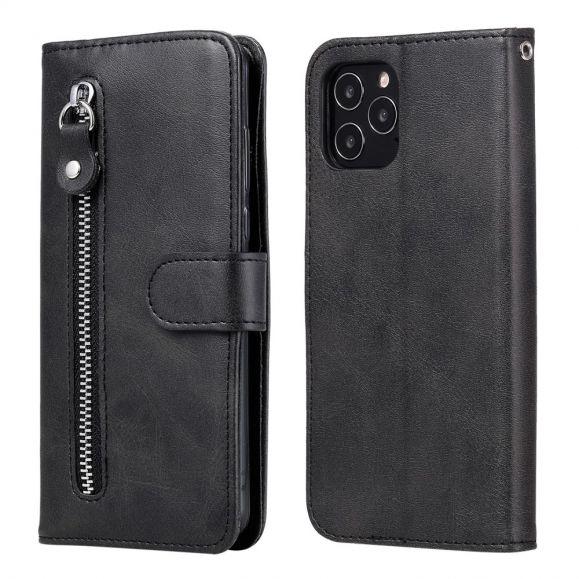 Housse iPhone 12 Pro Max Zipper Pocket Effet Cuir