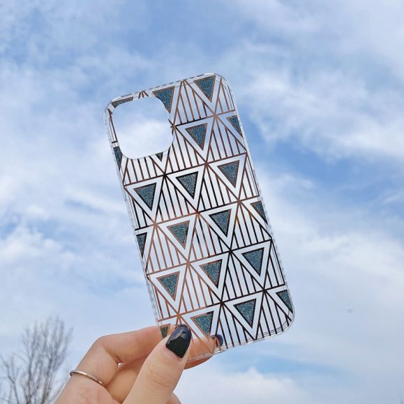 Coque iPhone 12 Pro Max Triangles Pailletés
