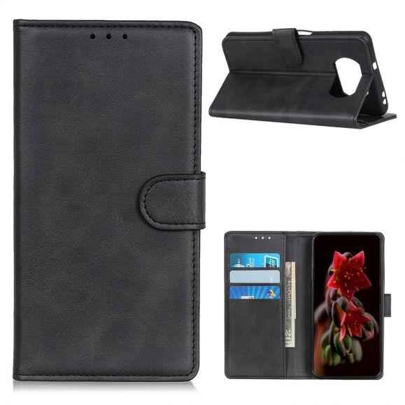 Housse Xiaomi Poco X3 NFC Marius effet cuir mat
