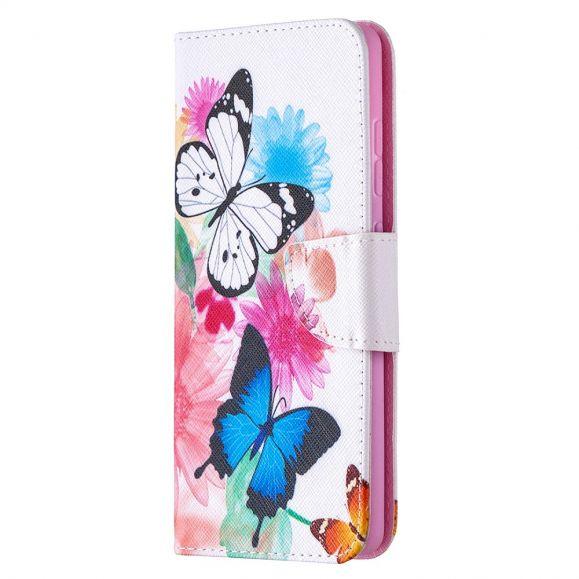 Housse Samsung Galaxy S20 FE papillons et fleurs colorées