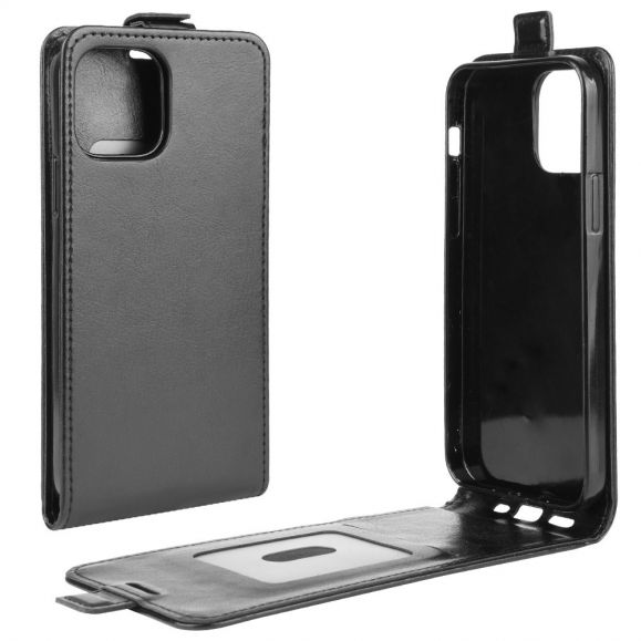 Housse iPhone 12 mini simili cuir avec rabat verticale