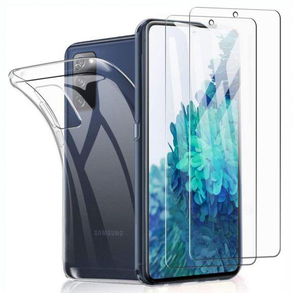 Coque Samsung Galaxy S20 FE + films protecteurs en verre trempé