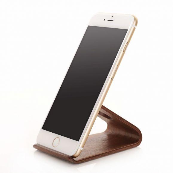 Support universel pour téléphone en bois naturel