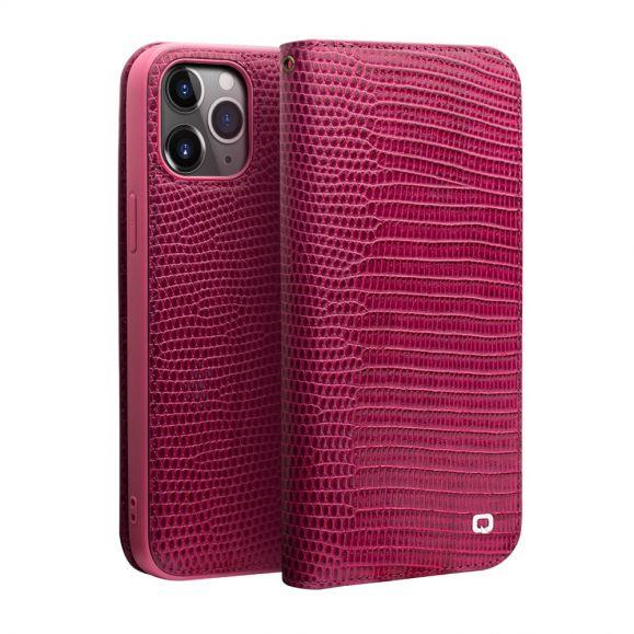Housse iPhone 12 / 12 Pro cuir véritable effet croco
