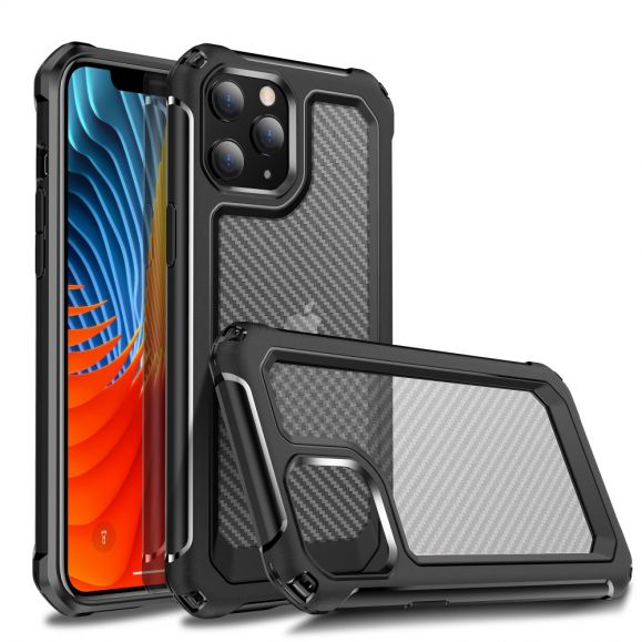 Coque Transparente iPhone 12 Pro Max Style Fibre de Carbone