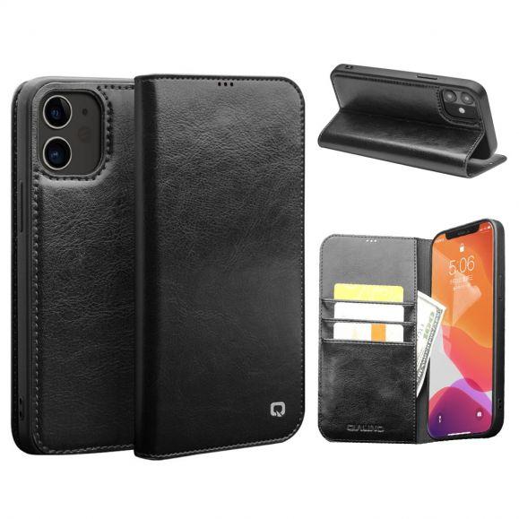 Étui iPhone 12 Pro / 12 fait main en cuir véritable