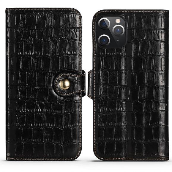 Housse iPhone 12 Pro / 12 Cuir aspect croco
