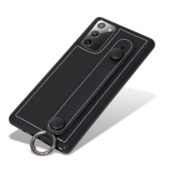 Coque Samsung Galaxy Note 20 Strap coutures simili cuir