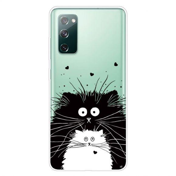 Coque Samsung Galaxy S20 FE chats noir et blanc
