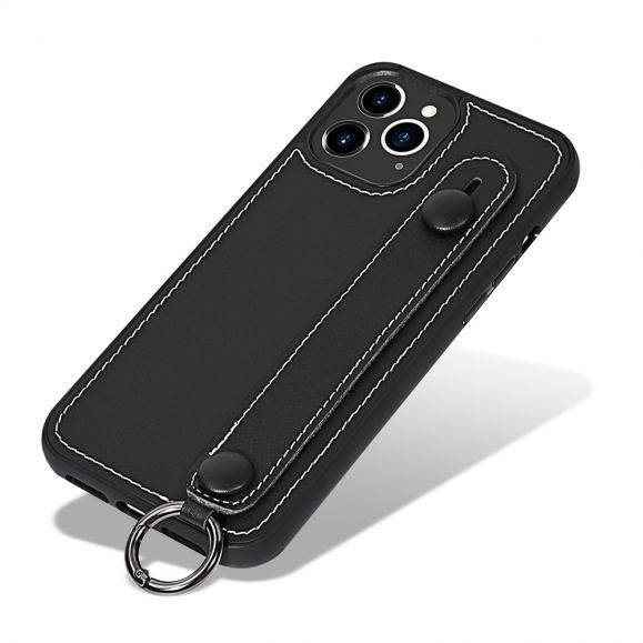 Coque iPhone 12 Pro / 12 Strap coutures simili cuir