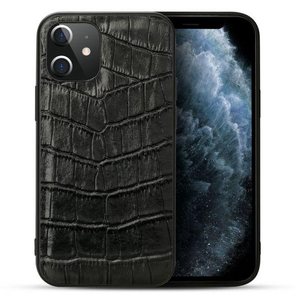 Coque iPhone 12 / 12 Pro cuir effet croco