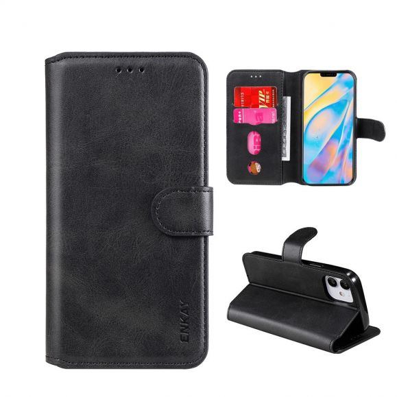Housse iPhone 12 Pro / 12 ENKAY Porte Cartes