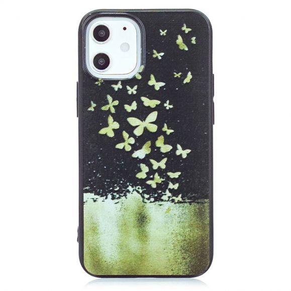 Coque iPhone 12 Pro / 12 papillons dorés