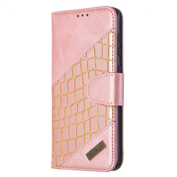Housse Samsung Galaxy A21s Effet Cuir Aspect Croco