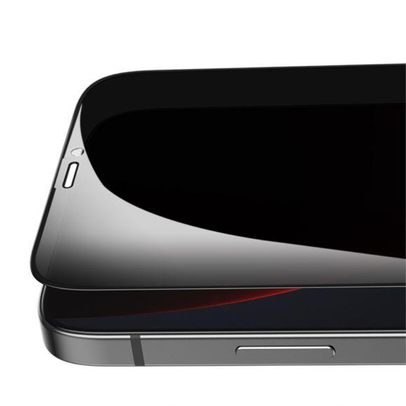 Protection d'écran iPhone 12 Pro Max verre trempé et filtre de confidentialité