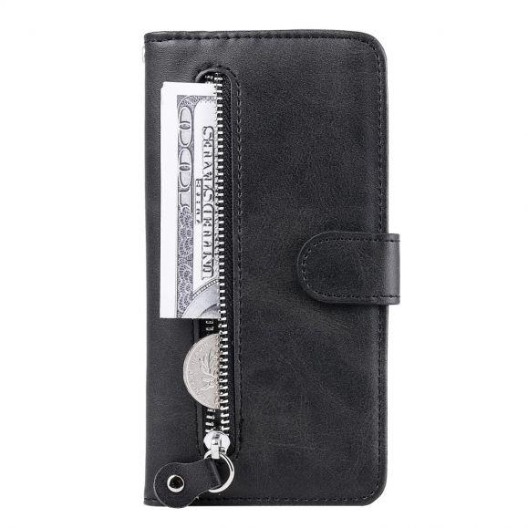Housse Sony Xperia 10 II Zipper Pocket Effet Cuir