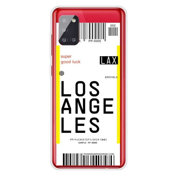 Coque Samsung Galaxy A51 Boarding Pass 08 LOS ANGELES