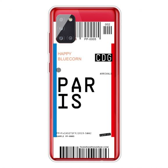 Coque Samsung Galaxy A51 Boarding Pass 02 PARIS