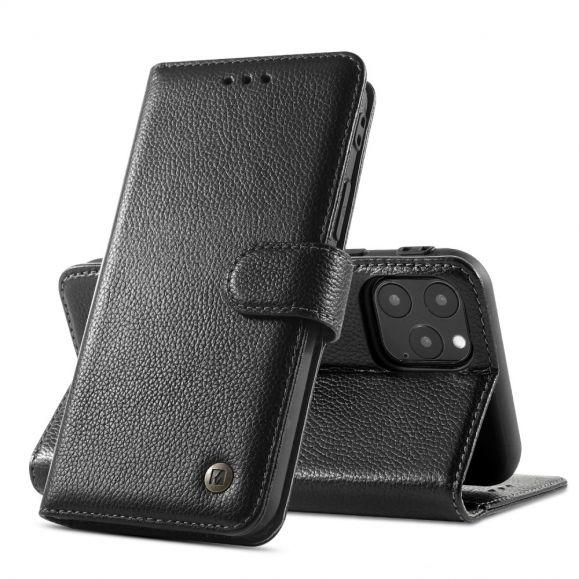 Housse iPhone 11 Pro Max KAIYUE Cuir Véritable - Noir