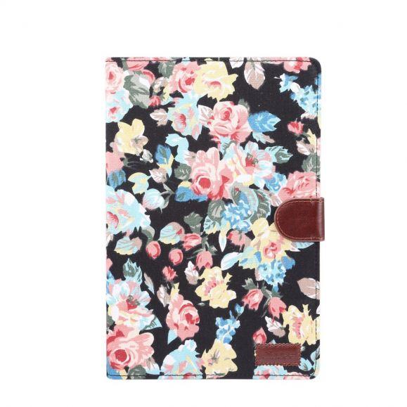 Housse Samsung Galaxy Tab S7 Plus Tissu Fleuries
