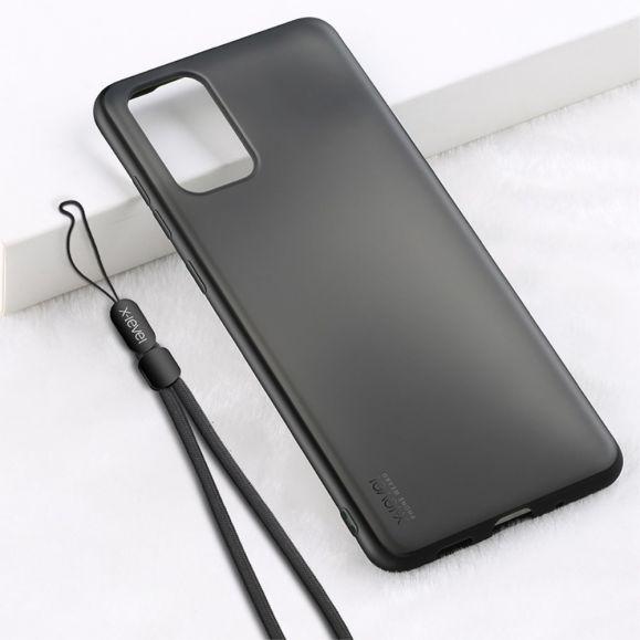 Coque Samsung Galaxy S20 Plus effet mat avec lanière