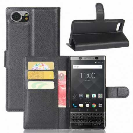 Housse BlackBerry KEYone Cuir Style Portefeuille