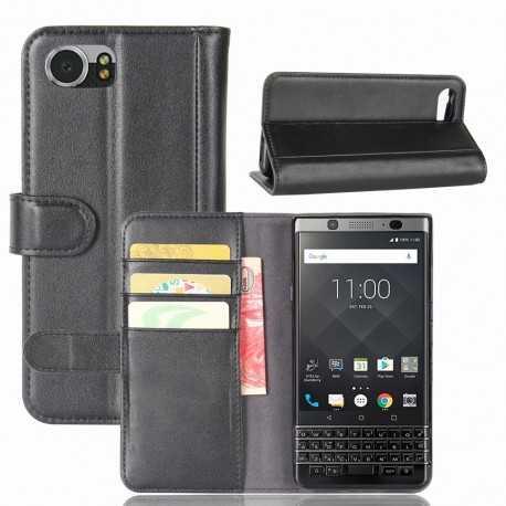 Housse BlackBerry KEYone Cuir Premium - Noir