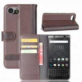 Housse BlackBerry KEYone Cuir Premium - Marron