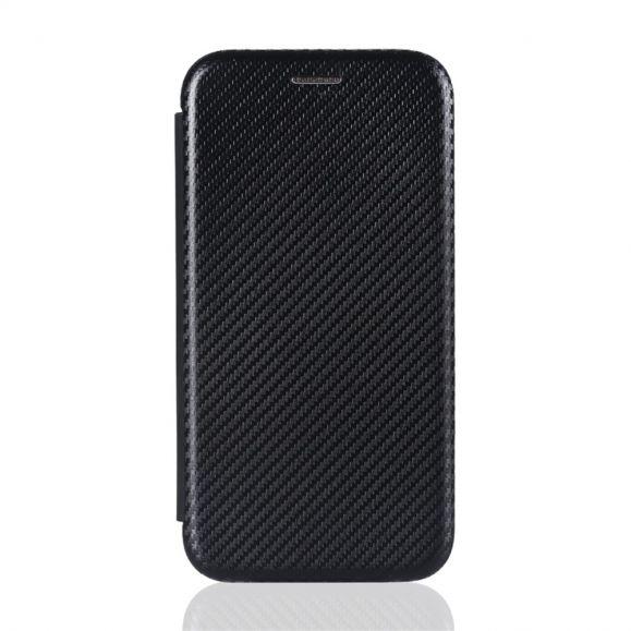 Housse Huawei P Smart 2021 simili cuir style fibre de carbone