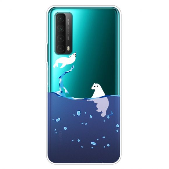 Coque Huawei P Smart 2021 phoque et ours blanc