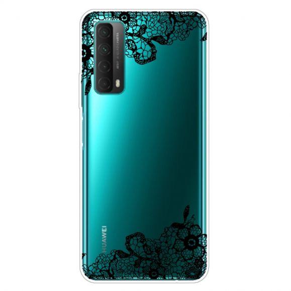 Coque Huawei P Smart 2021 fleur dentelle