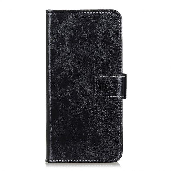 Housse Samsung Galaxy A42 5G effet cuir luxueux coutures