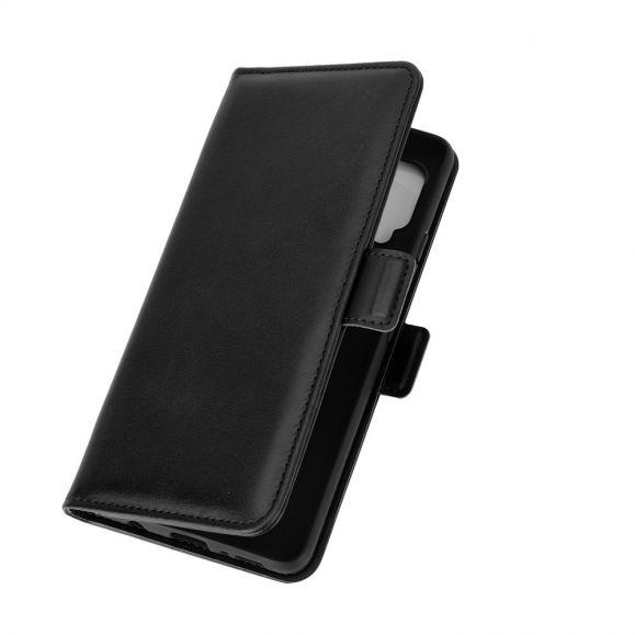Étui portefeuille Samsung Galaxy A42 5G revêtement simili cuir mat