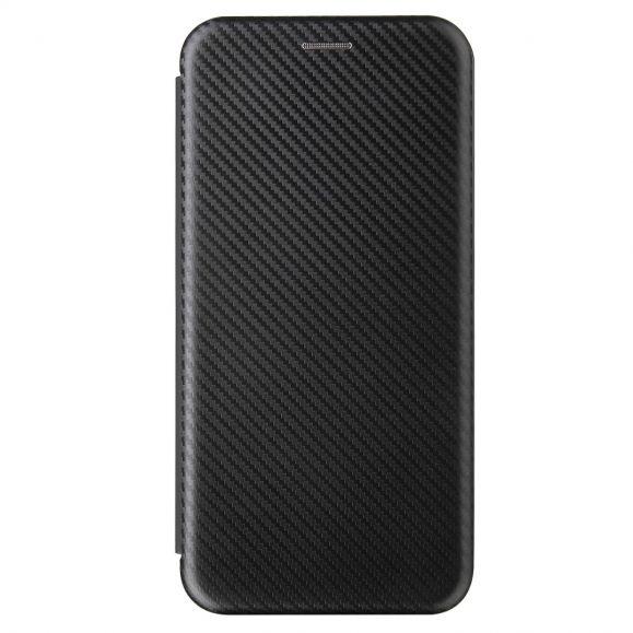 Housse OnePlus Nord N100 simili cuir style fibre de carbone