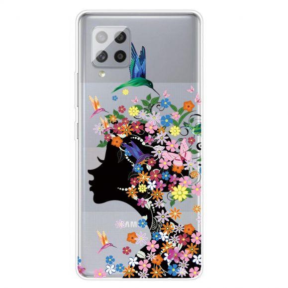 Coque Samsung Galaxy A42 5G Colibri Fleurs