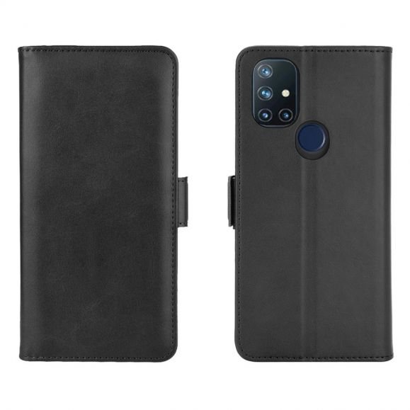 Étui portefeuille OnePlus Nord N10 5G revêtement simili cuir mat