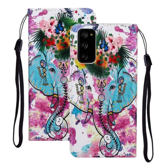 Housse Samsung Galaxy S20 FE Éléphant tropical